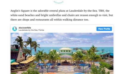 Lauderdale-By-The-Sea Featured in Cosmopolitan