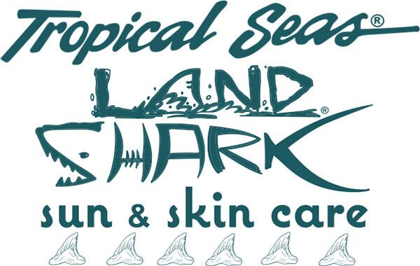 Tropical Seas Land Shark Logo